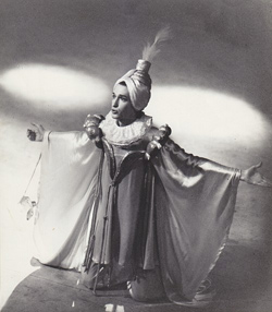 King Uzbek in Happy Beggars by K. Gozzi, directed by F. Berman, Stanislavsky Theater, 1981